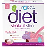 FORZA Shake It Slim Meal Replacement Shake Starter Pack - Meal Replacement Powder Drink - 3 Flavours - 14 Sachets