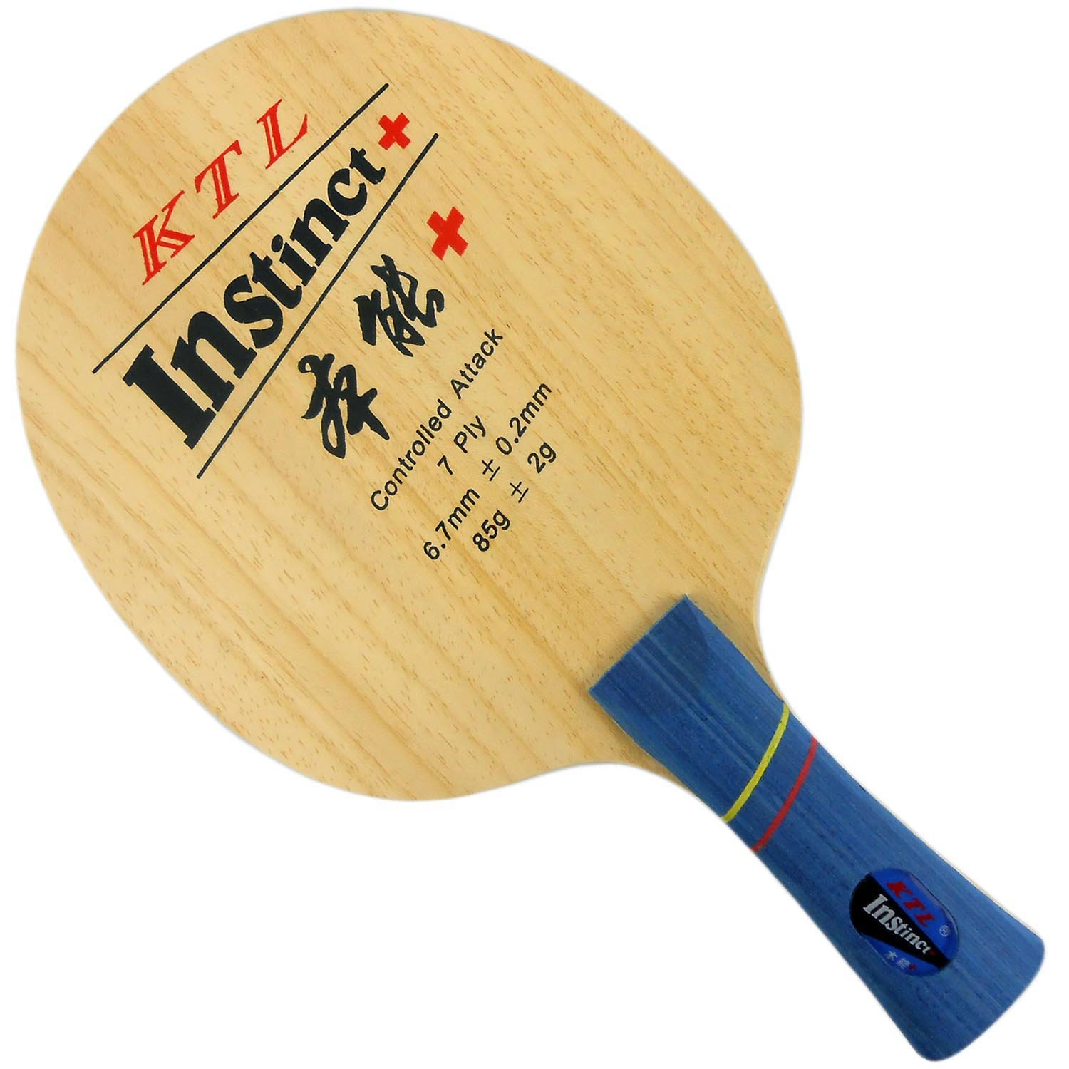 KTL Instinct + ( l-1009、l1009、L 1009 ) Controlled Attack Table Tennisブレードfor Ping Pong Racket、ロング( Shakehand ) -fl B00RSOKMS6