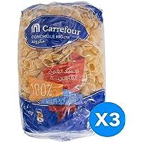 Carrefour Conchigle Rigate Pasta, 400gm - Pack of 3