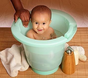 Amazon.com : European Upright Baby Bath - Spa Baby Tub Color: Sea ...