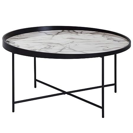 Wohnling Design - Mesa de Centro Redonda (76 cm de diámetro ...