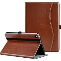 Ztotop iPad Mini 4 Case, Premium Leather Folio Stand Protective Case Smart Cover with Multi-Angle Viewing, Paperwork Card Pocket, Functional Elastic Strap for Apple iPad Mini 4 - Brown