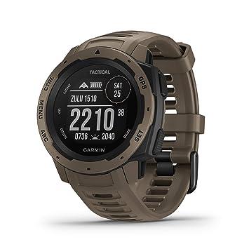 Garmin Instinct Tactical - Reloj con GPS para actividades al aire libre (resistencia frente a golpes y agua, carcasa de polímero reforzado) Marrón ...
