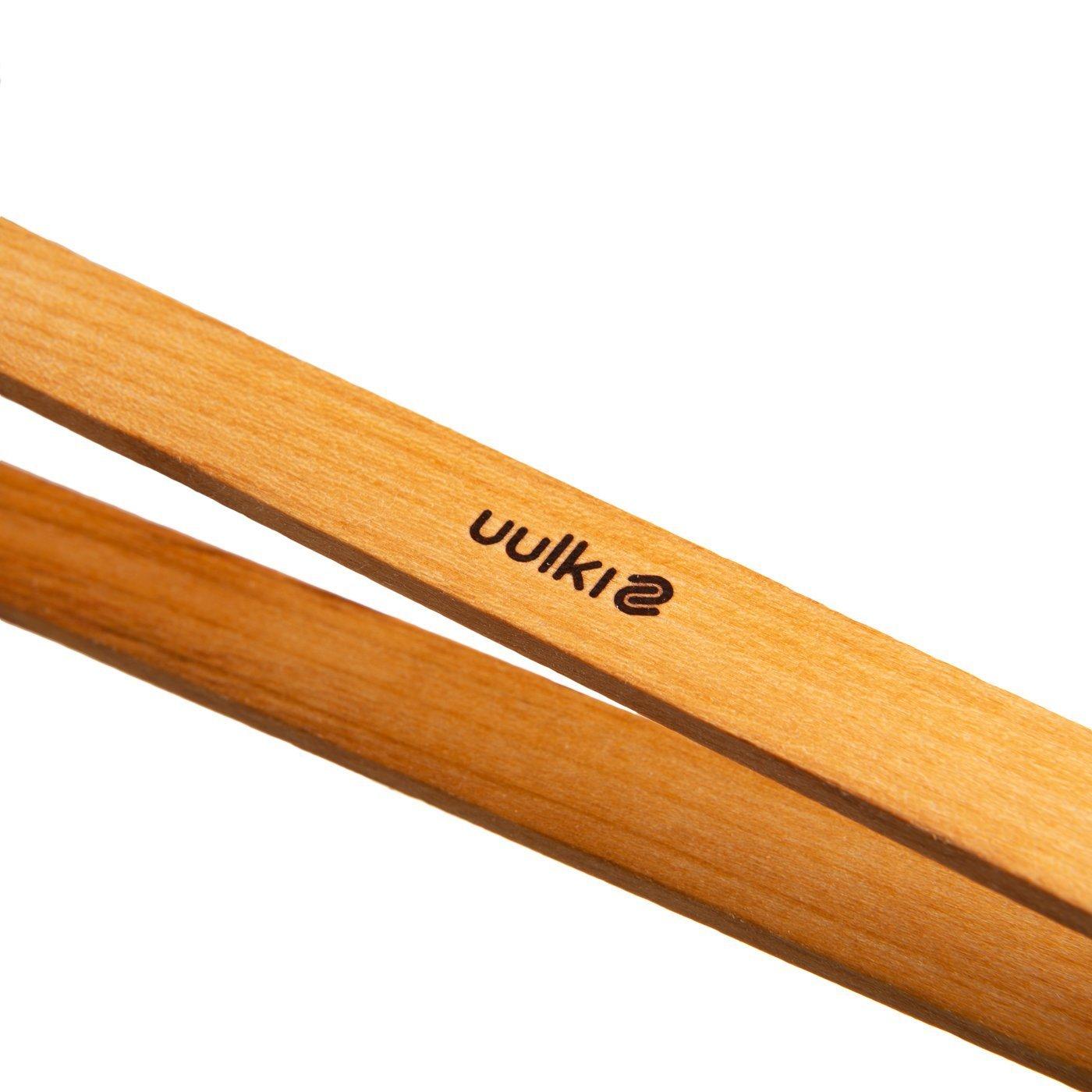 Uulki 3-TLG Umweltfreundliche Barbecue K/üchenzangen aus Holz Holzzange Grillzangen Universalzangen Servierzange Set BBQ Zangen aus Kirschholz 30 cm lang Grillzubeh/ör in Europa gefertigt