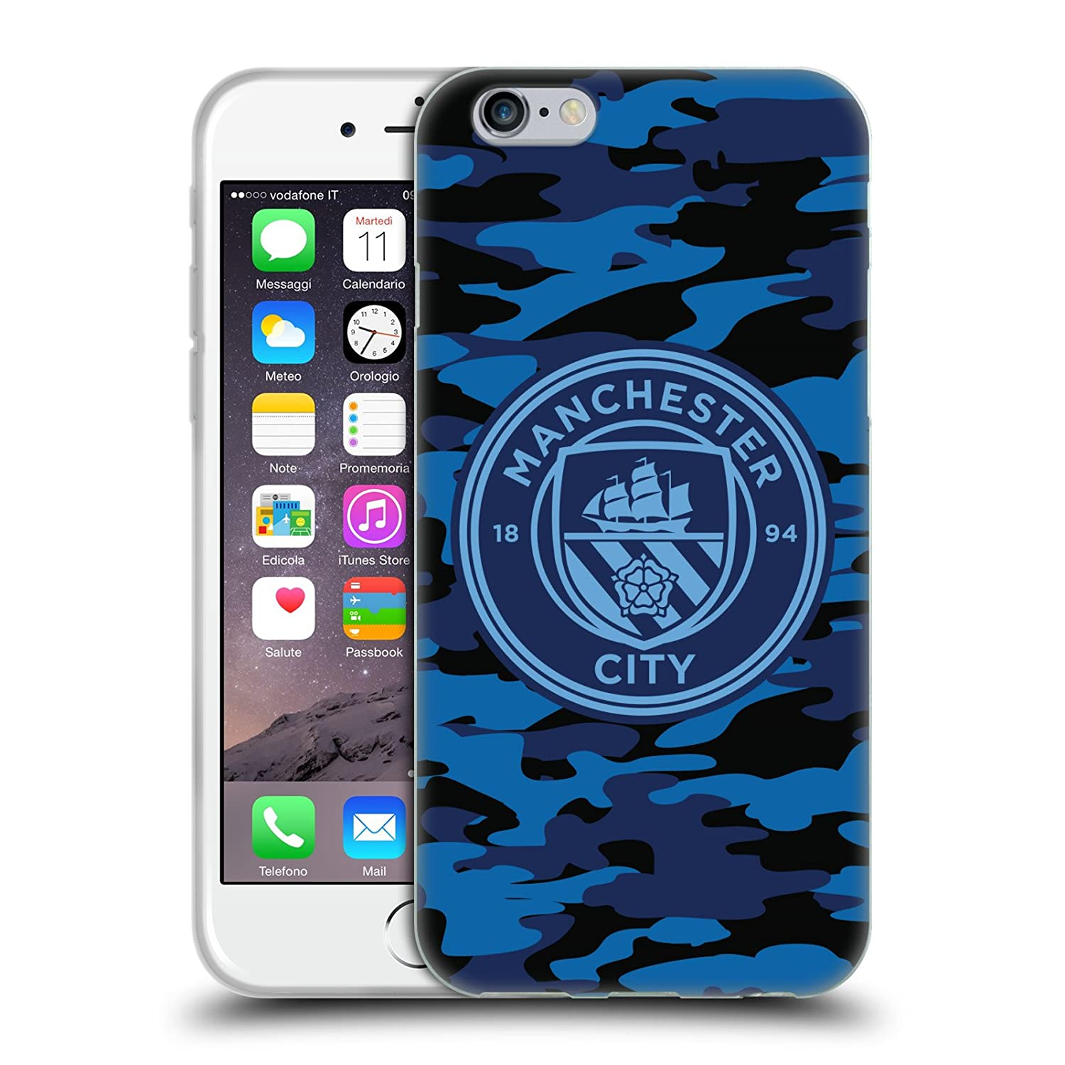 Calendario Ual.Official Manchester City Man City Fc Dark Blue Moon Mono Badge Camou Soft Gel Case For Iphone 6 Iphone 6s