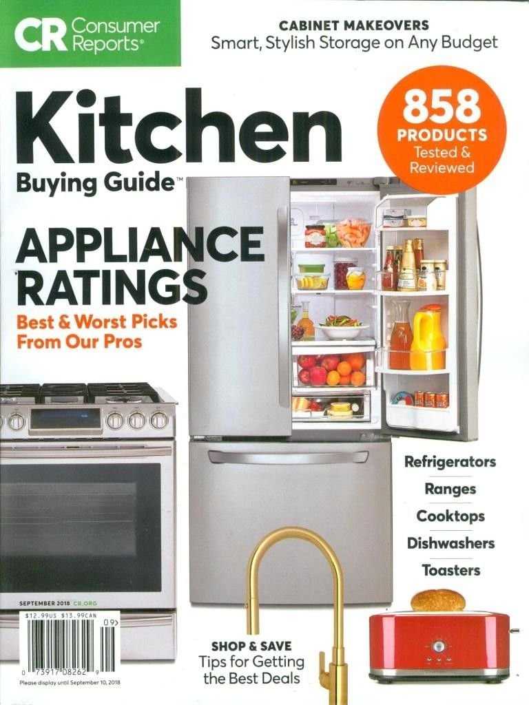 Consumer Reports Kitchen Buying Guide September 2018: Amazon ...