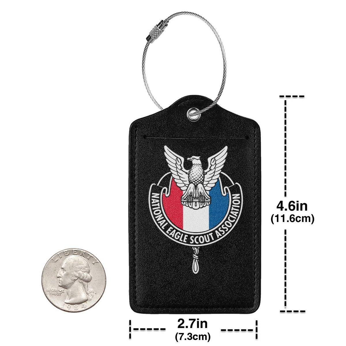 National Eagle Scout Association Leather Luggage Tag Travel ID Label For Baggage Suitcase