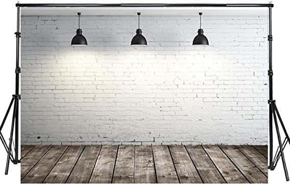 Grey and White 10x15 FT Backdrop Photographers,Modern Brick Wall Tiles Urban Construction Architecture Building Town Art Picture Background for Baby Shower Bridal Wedding Studio Photography Pictures