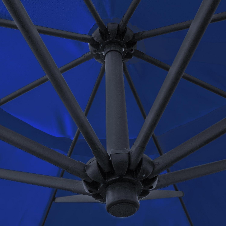 Amazon.de: Ampelschirm, Sonnenschirm mit 350 cm Durchmesser in blau ...