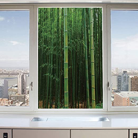 3D Decorative Privacy Window Films,Classical Germany Camouflage Pattern Forest Jungle Military Colors,No-Glue Self Static Cling Glass Film for Home Bedroom Bathroom Kitchen Office 24x71 Inch