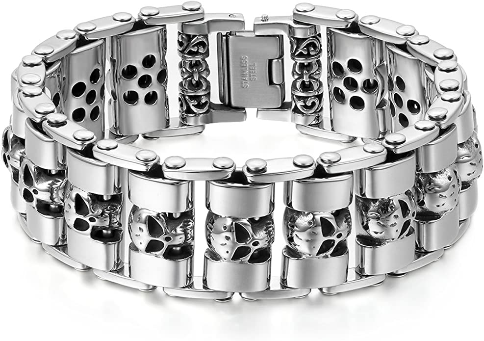 Acheter bracelet tete de mort online 6