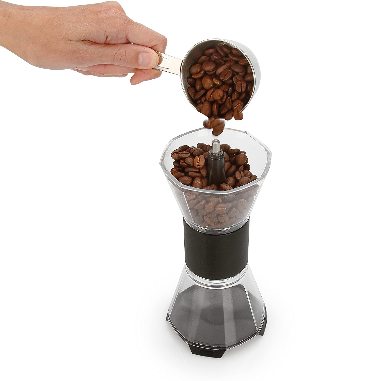 Bialetti Manual Adjustable Coffee Grinder Ceramic Burr