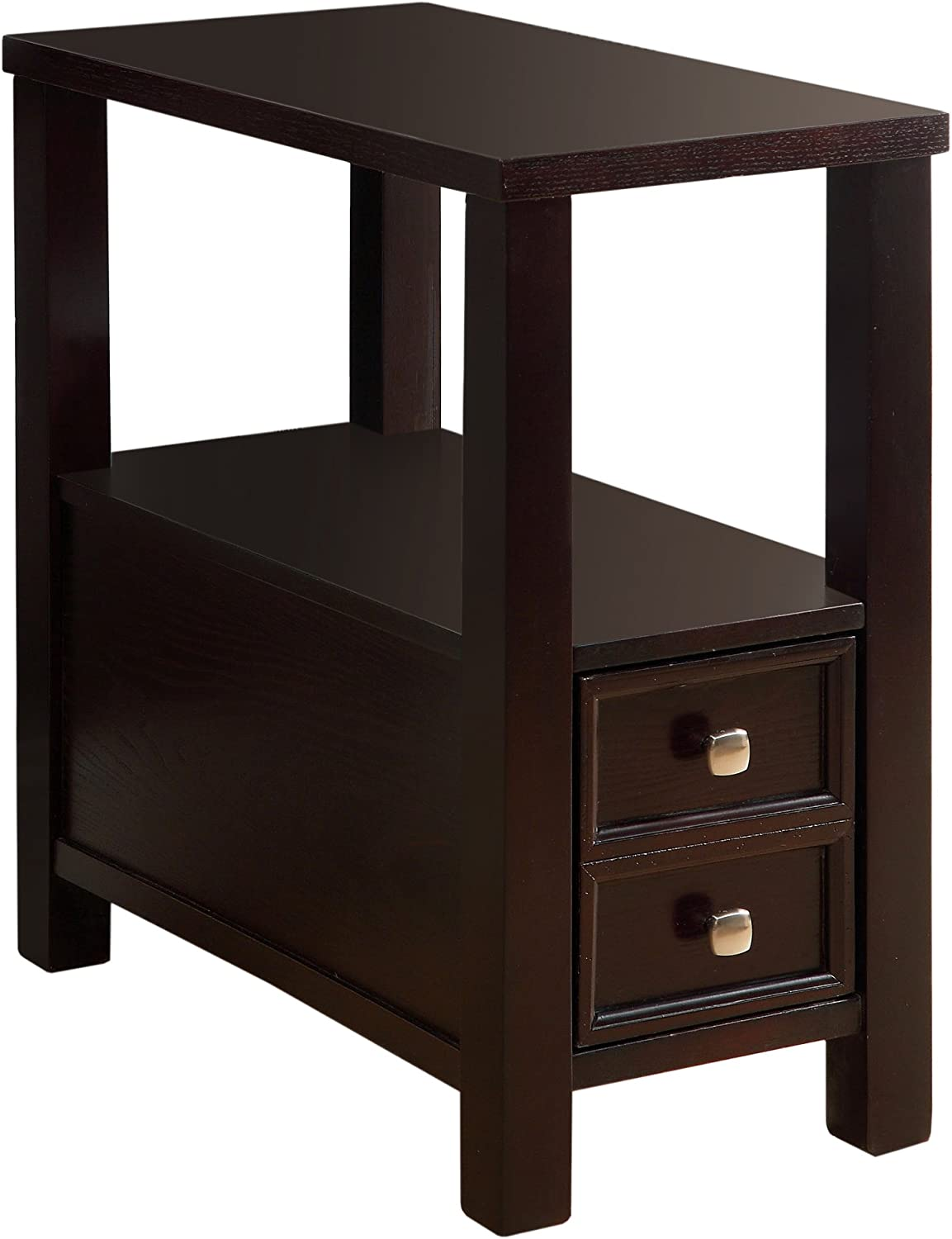 Furniture of America Statice 1-Drawer Side Table, Espresso