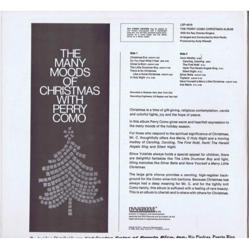 Perry Como - The Perry Como Christmas Album - Amazon.com Music