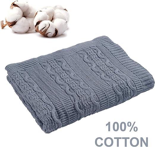 Aztocratic marvelos manta: suave de punto de algodón mantas para ...