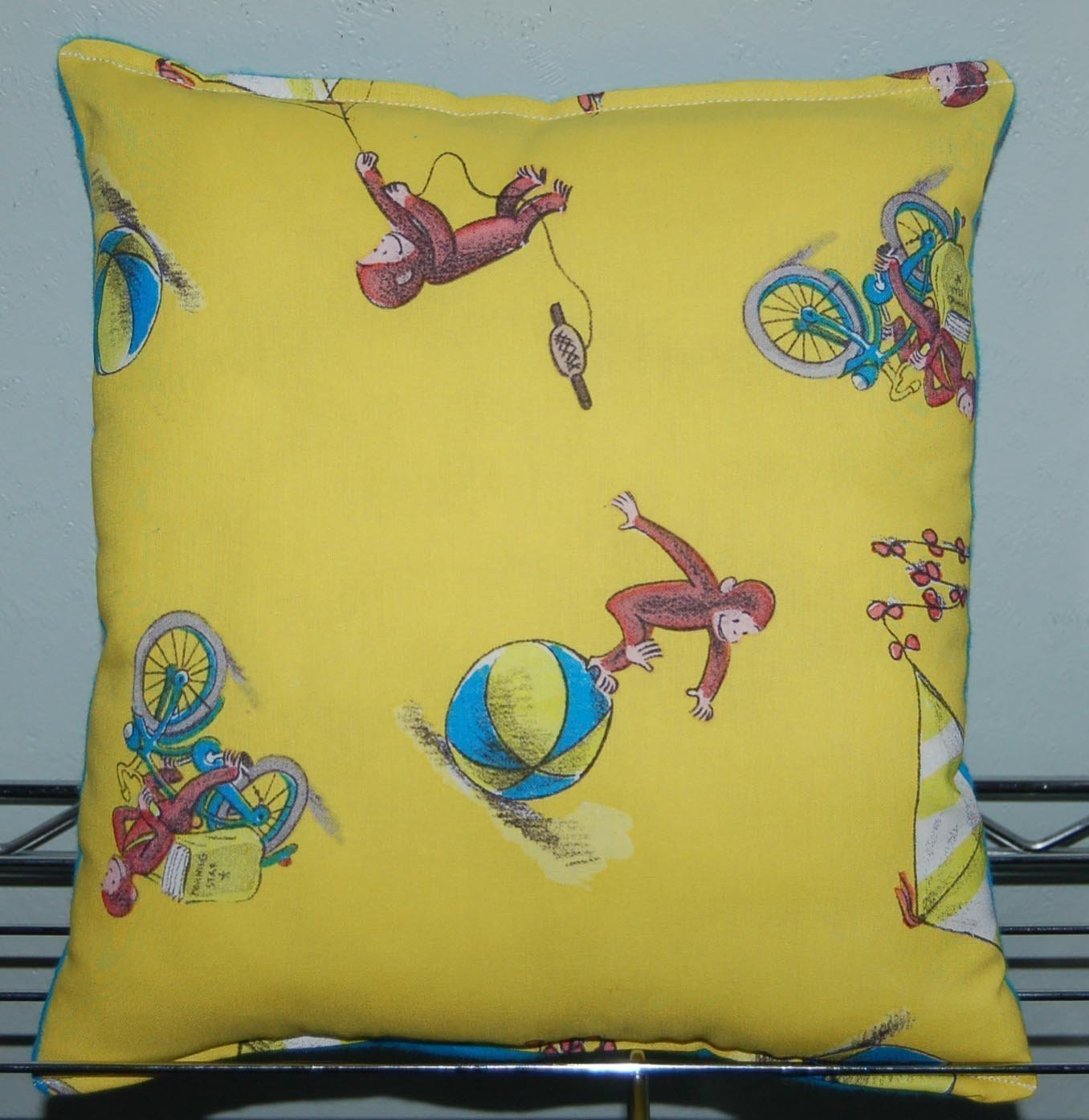 "Curious George Pillow Classic Curious George Pillow HANDMADE In USA Pillow is approximately 10"" X 11"