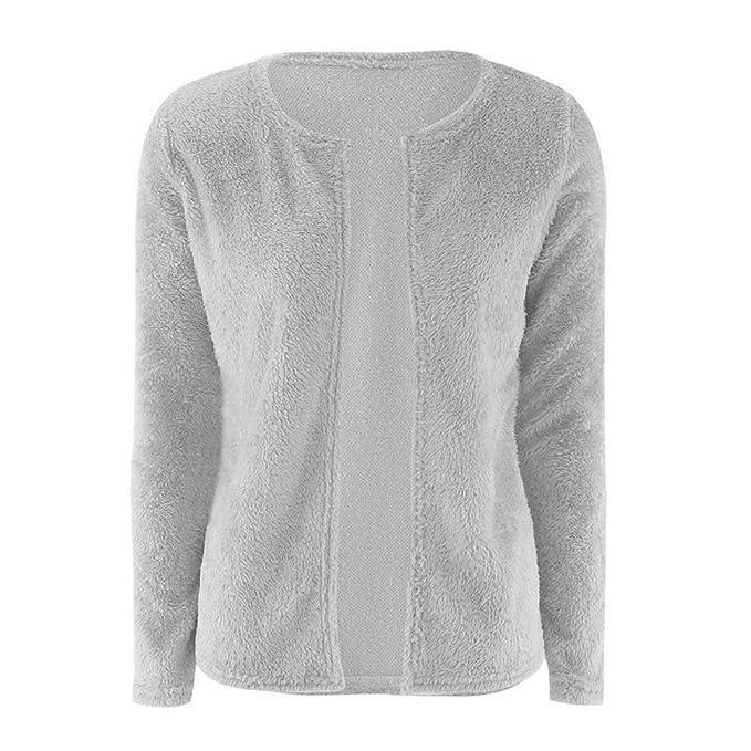 Cardigan Mujer Otoño Elegantes Moda Pullover Color Sólido Manga Larga  Fiesta Estilo Anchos Sweater Jerseys Jerseys d59adbdc36a5