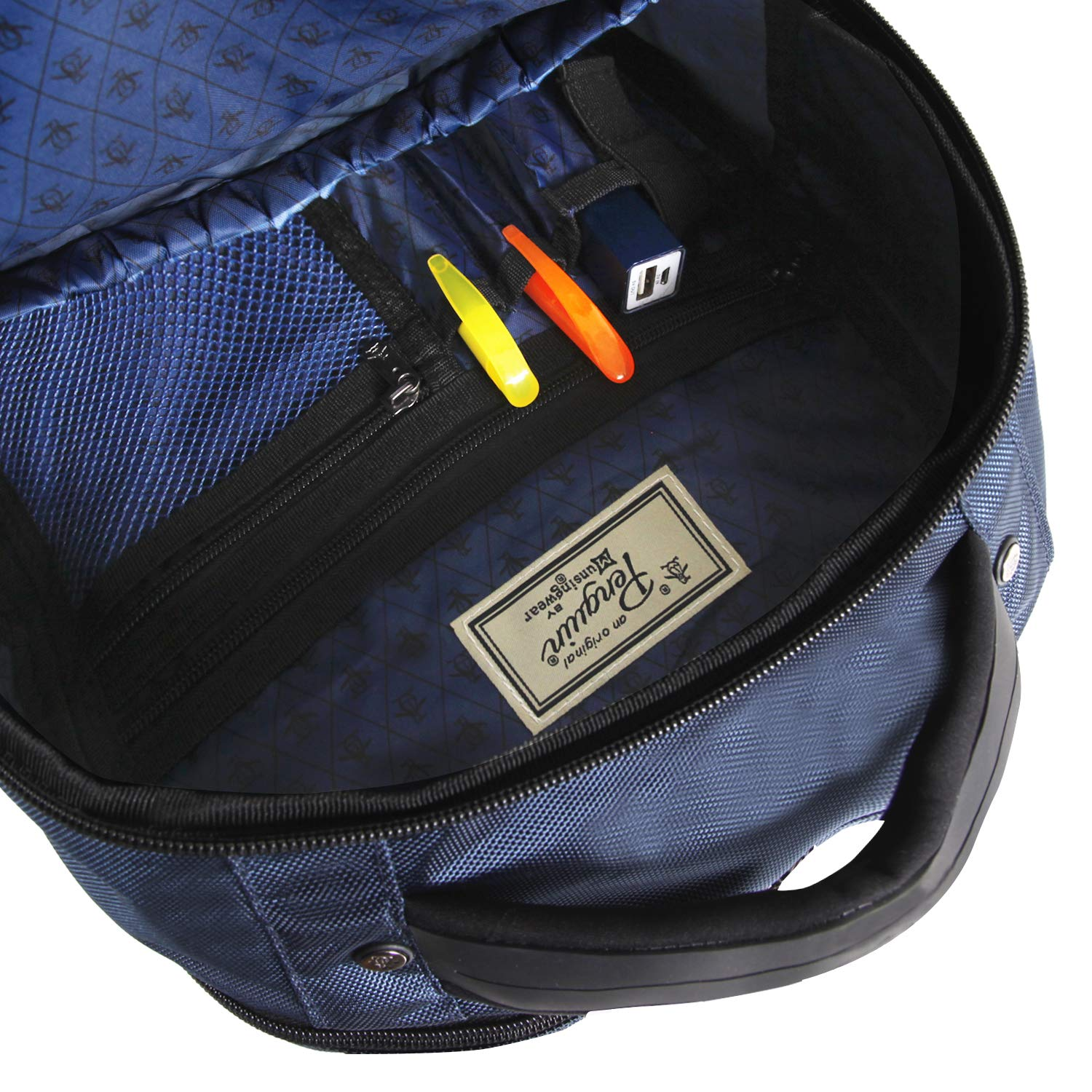 1ad710fe692e ORIGINAL PENGUIN Classics Backpack Fits Most 15-inch Laptop and Notebook,  Navy One Size