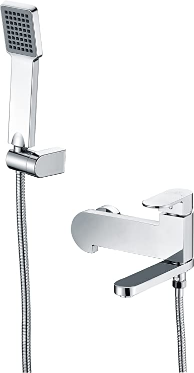 Anzzi Echo Single Handle Wall Mounted Shower Sprayer And Bath Faucet Set In Polished Chrome Tub Shower Handheld Spray Valve And Faucets Combo Set System For Bathroom Sh Az042 Amazon Com