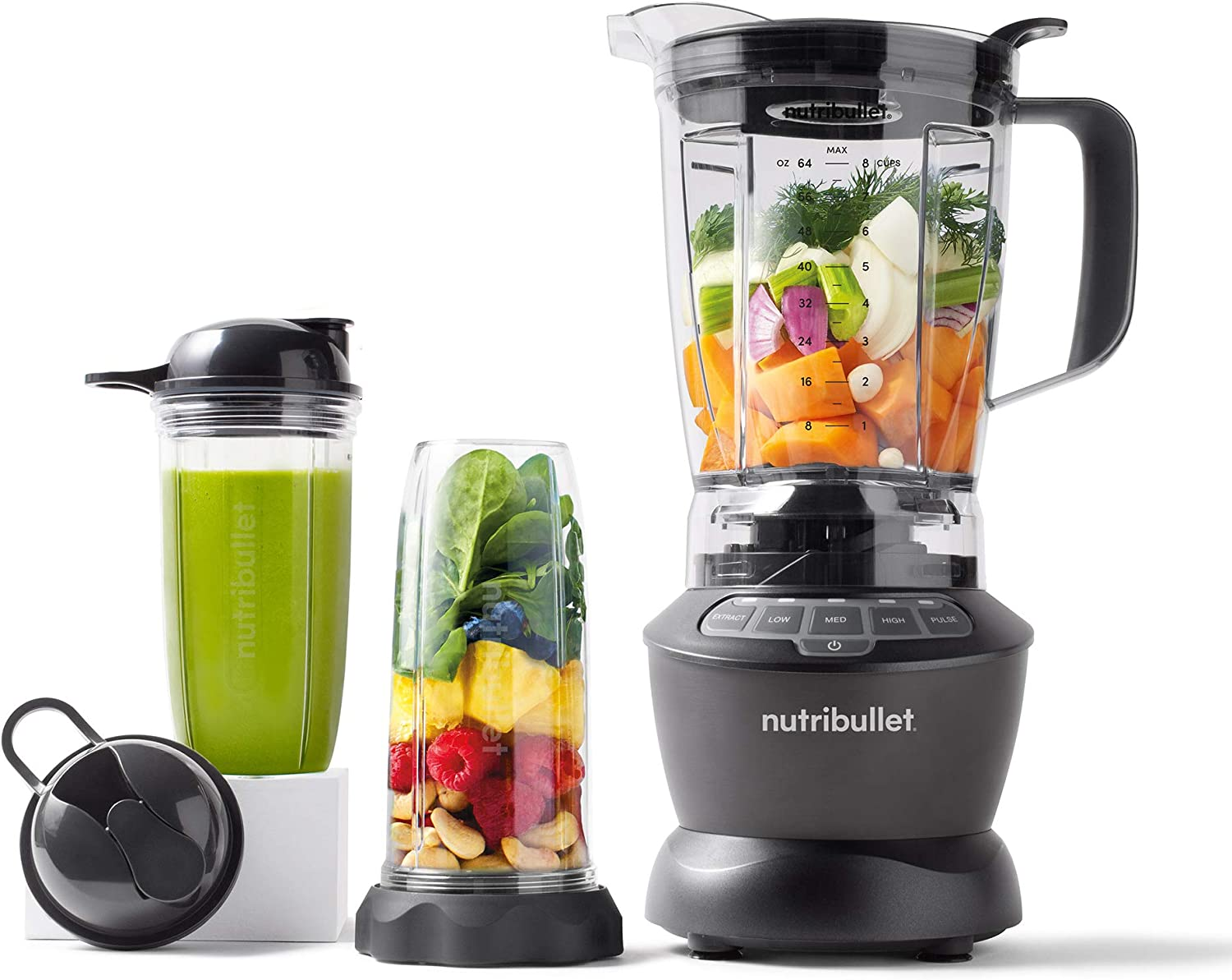 Amazon.com: NutriBullet ZNBF30500Z Blender Combo 1200 Watt, 1200W, Dark  Gray: Kitchen & Dining