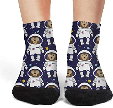 Crew Socks Cute Panda Blue Athletic Socks Work Ankle Socks