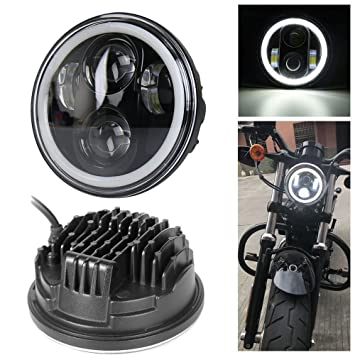 5.75 Faros delanteros Angel Eye Halley para Harley Davidson Daymaker lente del proyector LED