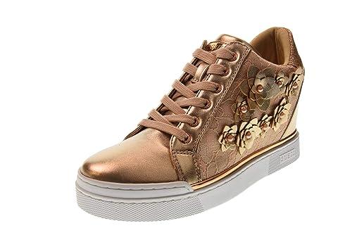 GUESS Zapatos Mujer Zapatillas Altas con cuña Interior FL5FLWLAC12 Rosa: Amazon.es: Zapatos y complementos