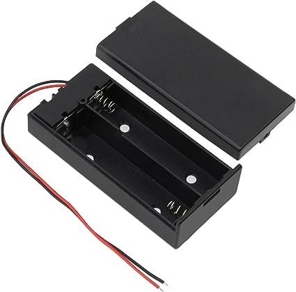 keesin 3.7 V 18650 Batería Plana Caso plástico Caja de batería con Interruptor de Encendido/Apagado y fijación Presilla 2 Solts × 4 Unidades: Amazon.es: Electrónica