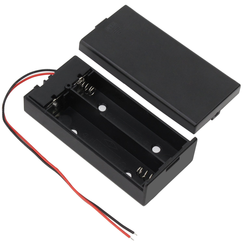 JZK® 2 x 18650 Akku Batterie Halter Gehäuse: Amazon.de: Elektronik