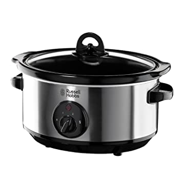 russell hobbs slow cooker 19790 3 5 l stainless steel silver rh amazon co uk Cook Well Manual Slow Cooker Crock Pot 7 Qt