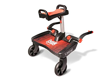 Lascal Buggy Board Maxi + Red/Red - Plataforma para carrito