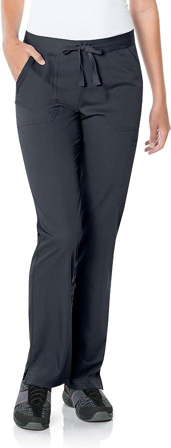 Landau Women's 5-Pocket, Contemporary Slim Fit 50/50 Drawstring Waist Medical Scrub Pants 9329