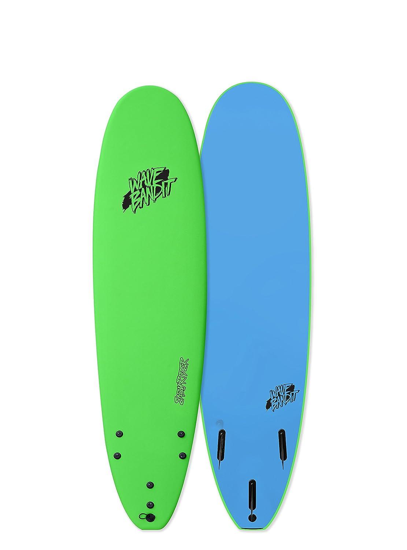 Catch Surf Wave Bandit EZ Rider 7'0 Short Surf Board, Neon Green Catch Surfboard Co. LLC dba Catch Surf WB70