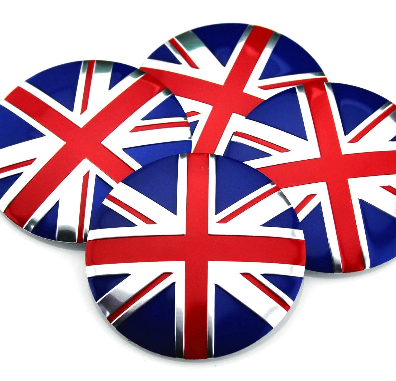 XuXuauto 4X 56mm 2.2 British flag Car Wheel Center Hub Cap Emblem Badge Decal Sticker