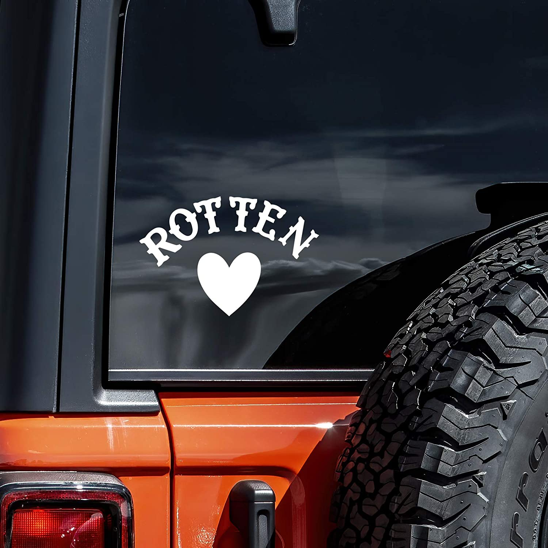 "Vool Rotten Heart Harley Quinn Decal Vinyl Sticker Cars Trucks Vans Walls Laptop White 5.5"""