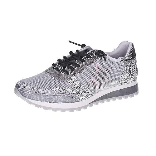 Cetti CettiC1130 Sra Snow Plata - de cordones Mujer: Amazon.es: Zapatos y complementos