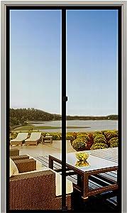 MAGZO Screen Door Magnets 30 x 80, Durable Fiberglass Door Mesh with Full Frame Hook&Loop for Entry Door Fits Door Size up to 30
