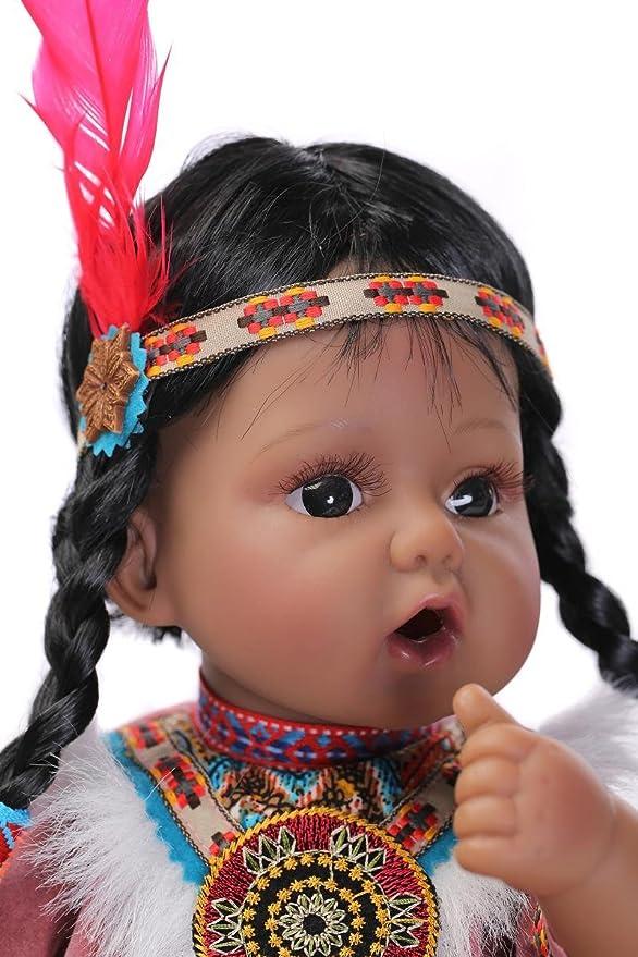Amazon.com: NPK Muñeco Reborn colección Black Girl Nativo ...