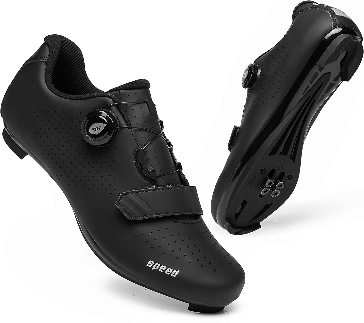 Men Cycling Shoes Road Bike Shoes Road Racing Bikes Comfortable Shoes for Indoor Spin Rider Riding Sneaker
