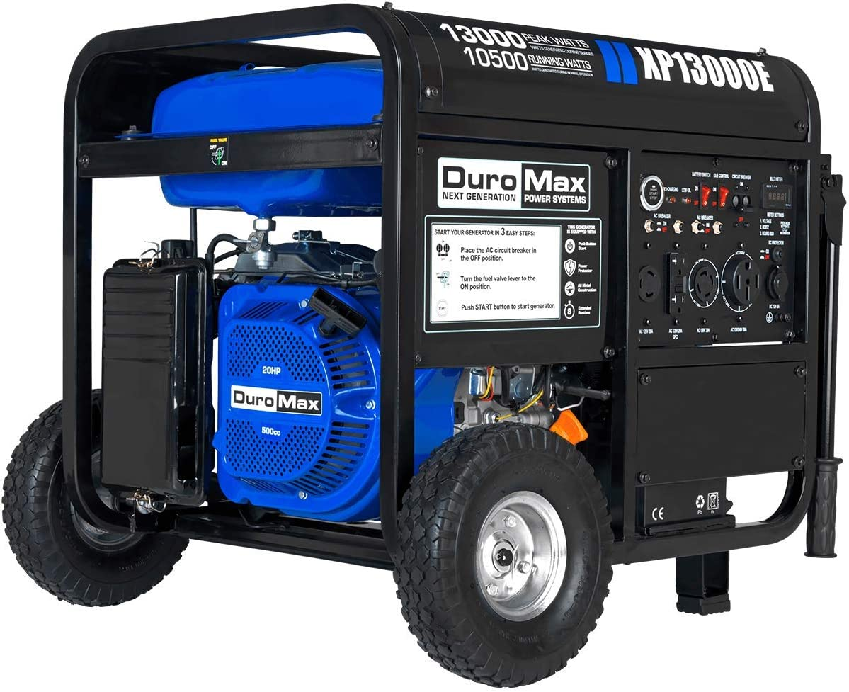 DuroMax XP13000E Generator, Blue Gray