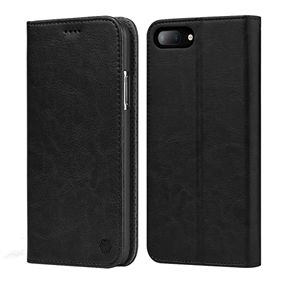 official photos ab55e af6c3 iPhone 8 Plus Leather Flip Folio Case Durable Slim with 3 Card Slots Cash  Holder Shockproof Protective Wallet Case for Apple iPhone 7 Plus  Case(iPhone ...