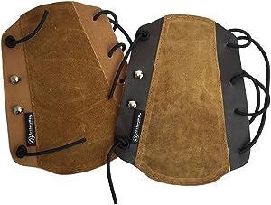 ArcheryMax Brown Non-Ventilated Leather Arm Guard