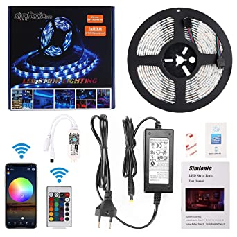 Simfonio Led Strip 5m Lichterkette Led Streifen Kompatibel Mit