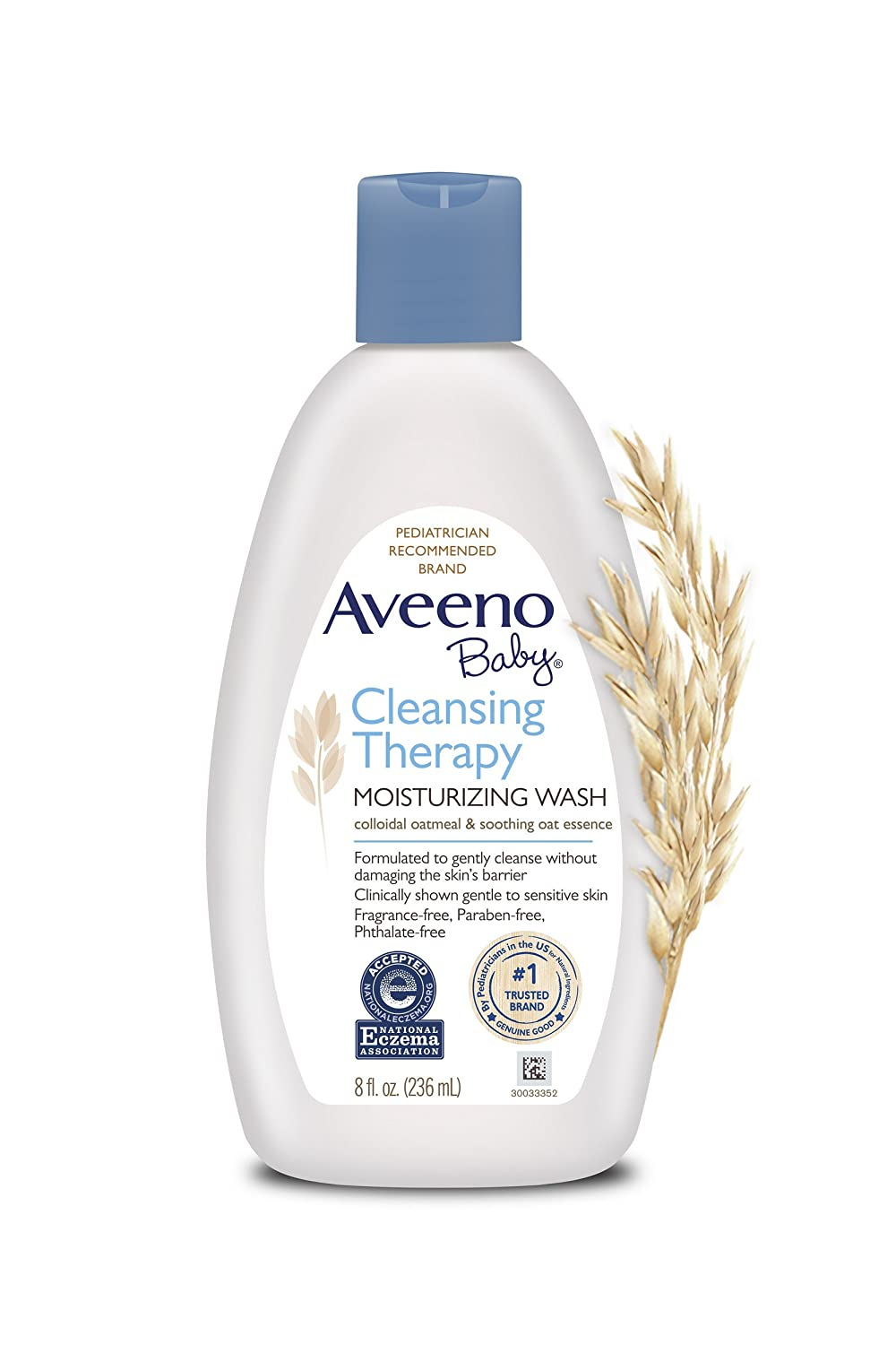 Aveeno Baby Cleansing Eczema Therapy Moisturizing Wash Scent Free, 8 Fluid Ounce Everready First Aid B0047GC7GI