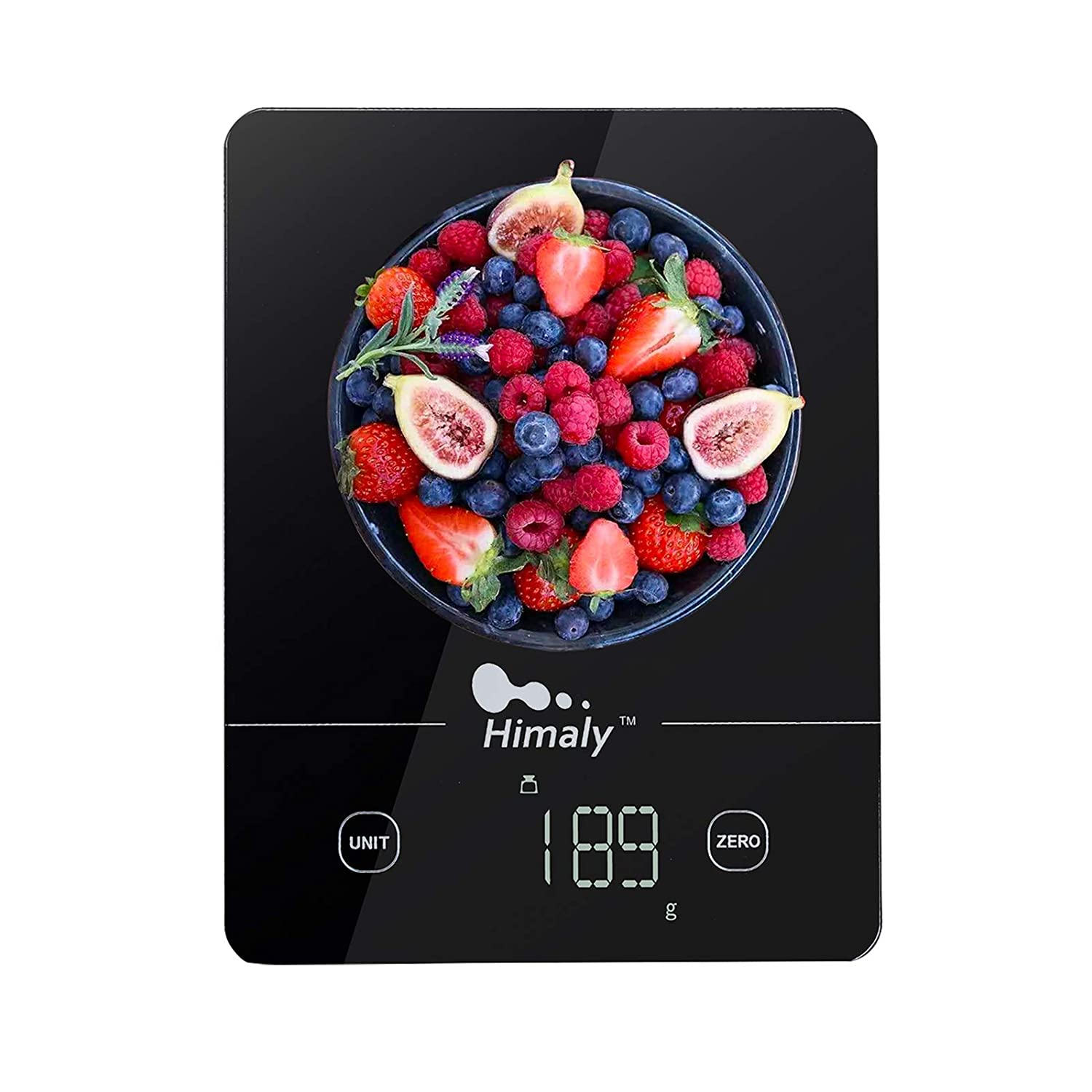 Food Scale Digital Weight Grams and oz, 22lb Kitchen Scale for Cooking Baking , Easy Clean Touch Button Tempered Glass Panel with LED Display