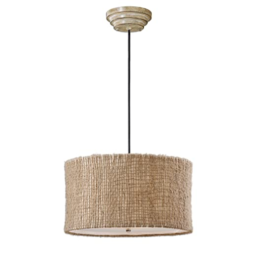 Amazon.com: Tela Natural de cordel para lámpara 3 luz ...