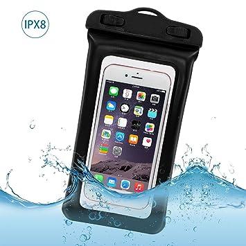 Flotante Funda Impermeable Móvil IPX8, Bolsa Funda Móvil Universal para Sumergible de 4-6 Pulgada iPhone 7/6s, 7/6s plus,5,SE,Huawei P9 ...