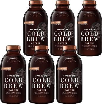 12-Pack Starbucks Cocoa & Honey with Cream Cold Brew Coffee, 11 Fl oz