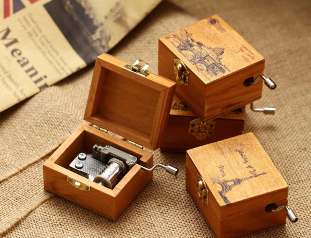 ACCOCO Personalizable Wood Musical Box Music Box Melody Carrying You from Castle in The Sky (The Bird) by ACCOCO (Image #6)