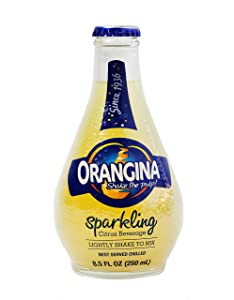 Orangina - Citrus Sparkling Juice Beverage - Light Pulp - Original Imported European French Recipe - No Artificial Ingredients - (Pack of 12) (8.5 oz Bottle)